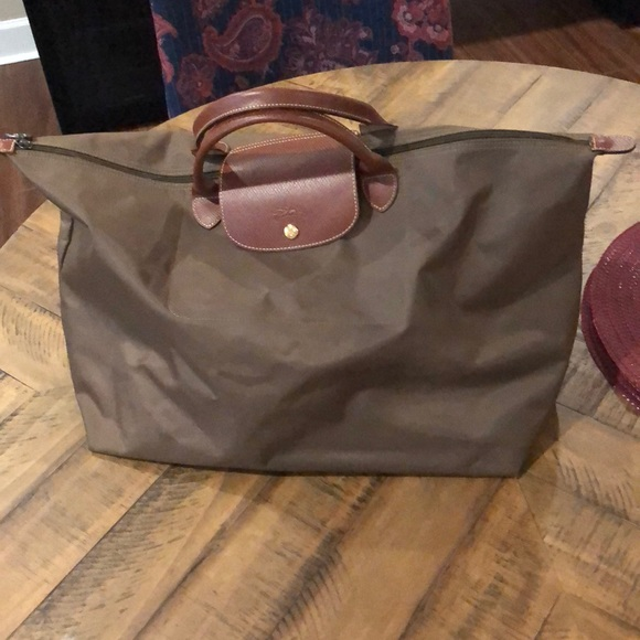 2b706fc3dd6a Longchamp Bags | Le Pliage Travel Bag Xl In Khaki | Poshmark